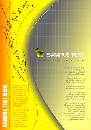 Abstract background or cover for brochure