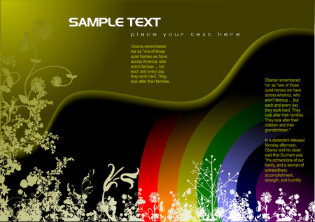 Hi-tech background – cover for brochure Vector