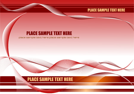 waved: Abstract waved background vector illustration