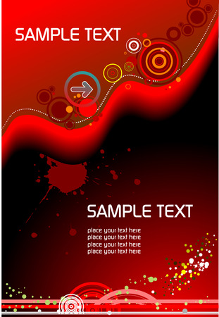 Hi-tech background � cover for brochure Vector