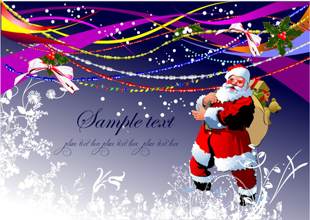 Greeting card for Christmas and happy New Year Vector