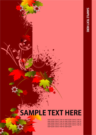 autumnally: Cover for brochure with red floral background