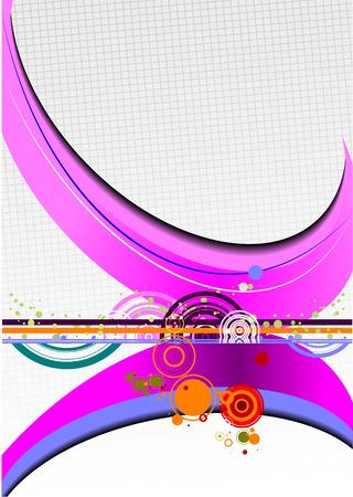 oscillation: Hi-tech abstract background vector illustration
