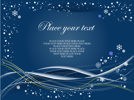 Blue winter background. Vector illustration