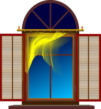 Window with shutters Vector