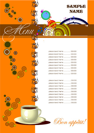 Restaurant (cafe) menu. Vector illustration