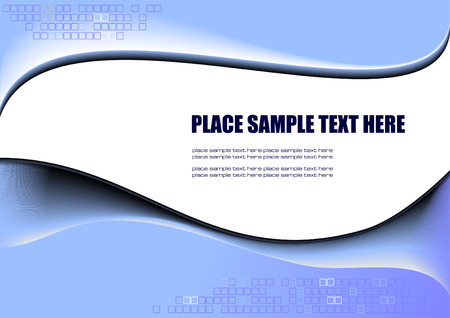 Abstract blue background with place for your text Vector