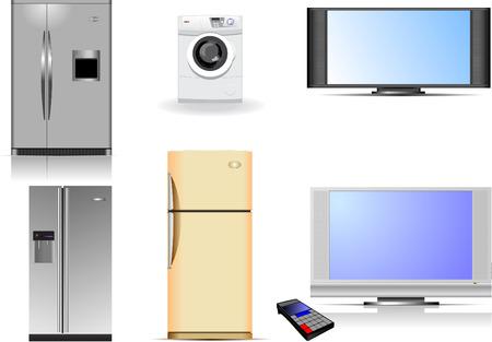 tvset: Housewares vector illustration Illustration