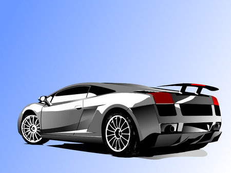 lifelike: Vector illustration of concept-car
