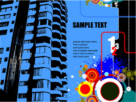 vintages: Urban abstract grunge composition. Vector illustration