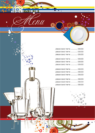 serviette: Restaurant (cafe) menu. Vector illustration