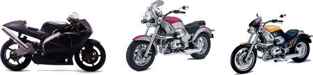 three motorcycles Vector
