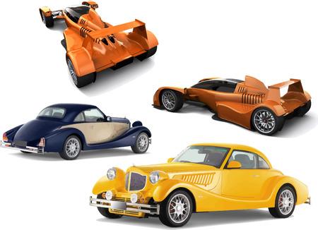 lifelike: Vector illustration of concept-car. Models