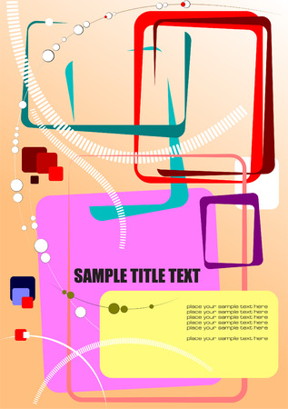 Abstract hi-tech colored composition. Vector illustration Vector