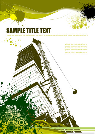 actual: Urban abstract grunge composition. Vector illustration