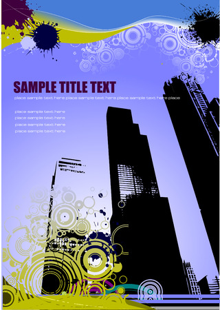 Urban abstract grunge composition. Vector illustration
