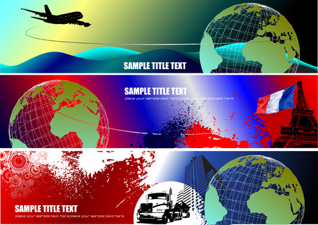 Three corporate banners. Vector illustration Stock Vector - 4352144