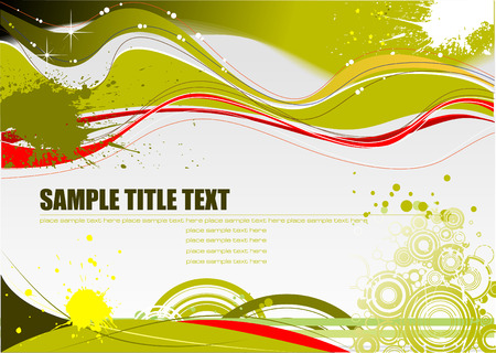 Green and Yellow grunge background. Vector Vector
