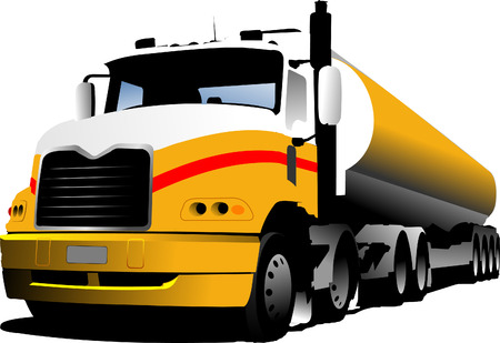 Vector illustration of truck. Lorry Vector