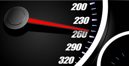 mph: Sport car speedometer. Vector illustration