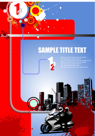 Grunge style cover for brochure urban images. Vector illustration