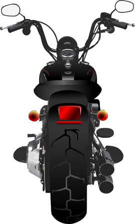 Motorcycle rear view. Vector illustration