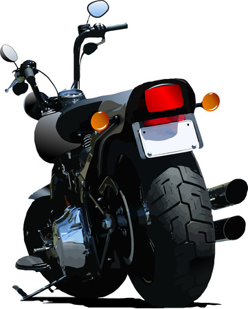 Motorcycle rear-side  view. Vector illustration Illustration