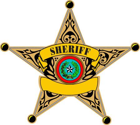Sheriff badge. Vector illustration Vector