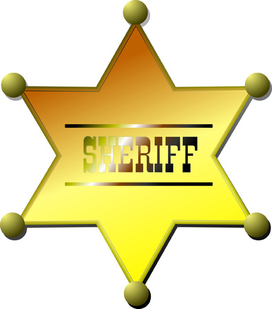 Sheriff badge. Vector illustration Stock Vector - 4560082