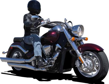 moteros: Biker. Ilustraci�n vectorial