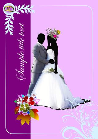 folio: Cover for wedding album. Vector illustration
