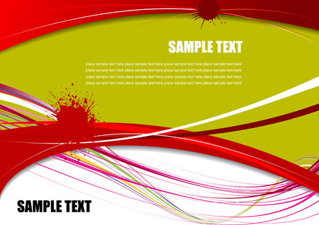 Red, Green and Yellow grunge background. Vector illustration Vector
