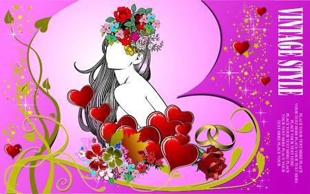 Wedding  Greeting Card. Vector illustration. Invitation card Stock Vector - 4704862