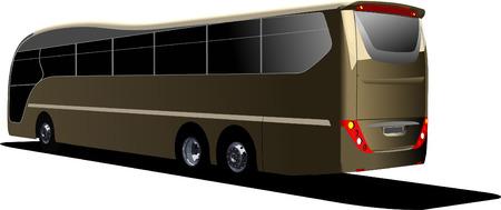 Tourist bus. Coach. Vector illustration Vector