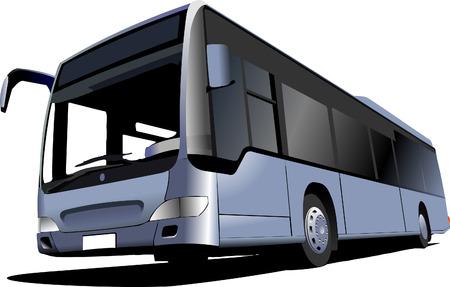 Blue Tourist bus. Coach. Vector illustration Vector