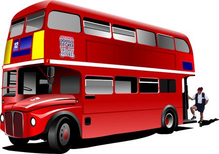 sosie: London bus rouges � deux �tages. Vector illustration