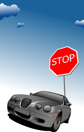 obey: Stop sign. Traffic road sign symbol. Vector