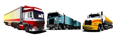 transporter: Colored Vector illustration of trucks. Help for designers