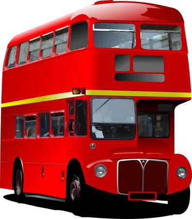 londres autobus: Londres autob�s rojo de doble Decker. Ilustraci�n vectorial Vectores