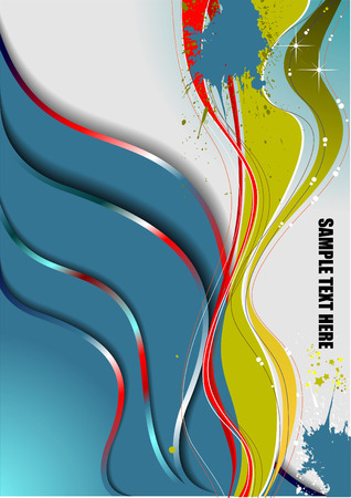 Abstract wave background. Vector illustration Vector