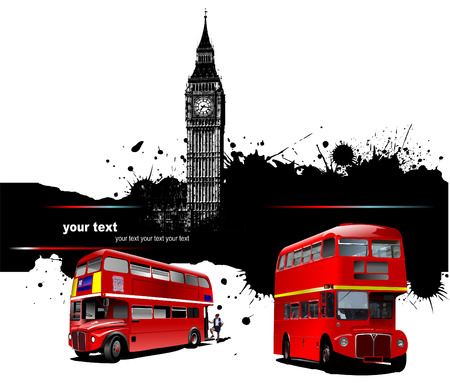 Cover for brochure with London images. Vector illustration Stock Vector - 4949017