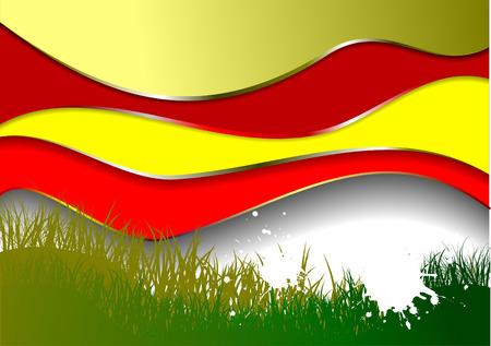 Grunge wave grass background. Vector illustration Vector