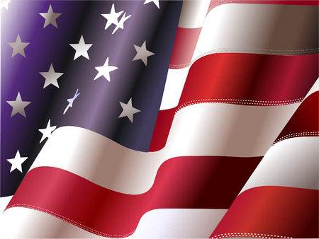 estados unidos bandera: D�a 4 de julio de la Independencia de los Estados Unidos de Am�rica. P�ster para los dise�adores gr�ficos Vectores