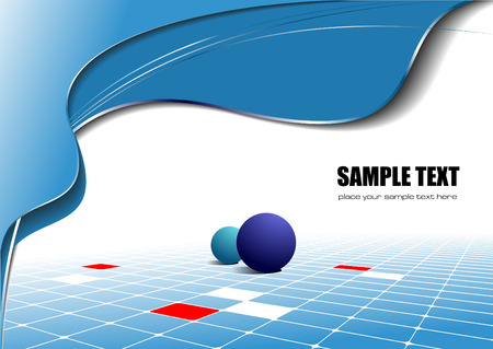 Abstract blue wave background. Vector illustration Vector