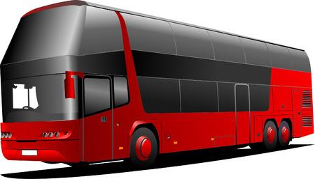 ausflug: New London Doppeldeckerbus roten Bus. Vector illustration Illustration