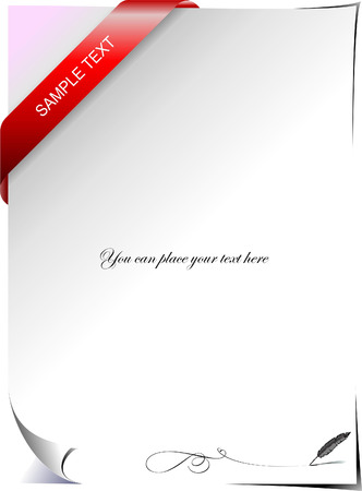 Blank letter with corner ribbon. Vector illustration Stock Vector - 5059054