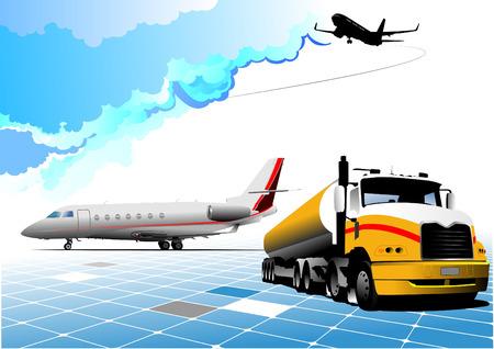 Airport scene . Vector illustration for designers Vector