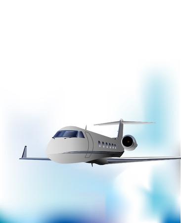 Airplane flight. Vector illustration Vector