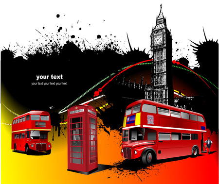 london big ben: London rarity red images. Vector illustration