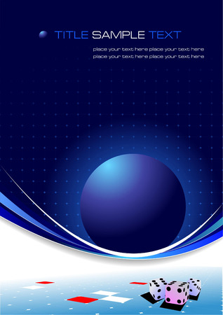 Blue business background. Vector illustration Stock Vector - 5237686